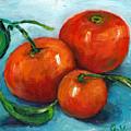 Three Tangerines Still Life Grace Venditti Montreal Art by Grace Venditti
