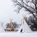 Three Tipis by Angela Moyer