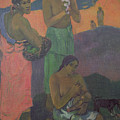 Three Women On The Seashore by Paul Gauguin