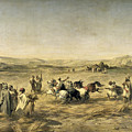 Threshing Wheat In Algeria by Adolphe Pierre Leleux
