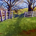 Throught The Pasture Gate by Sharon E Allen