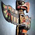Thunderbird Totem Pole - Thunderbird Park, Victoria, British Columbia by Peggy Collins