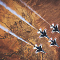 Thunderbirds In Diamond Roll Formation by U S A F