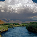 2a6738-thunderhead Over Owens River  by Ed  Cooper Photography