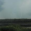 Thunderstorm Over Otter Brook Lake by John Burk