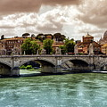Tiber River, Ponte Sant'angelo And St. Peter's Cathedral, Roma, Italy by Elenarts - Elena Duvernay photo