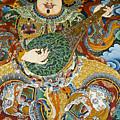 Tibetan Buddhist Mural by Michele Burgess