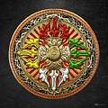 Tibetan Double Dorje Mandala by Serge Averbukh