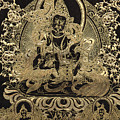 Tibetan Thangka - Vaishravana - God Of Wealth And Regent Of The North by Serge Averbukh
