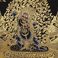 Tibetan Thangka - Vajrapani - Protector And Guide Of Gautama Buddha by Serge Averbukh