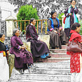 Tibetan Women Waiting by Karla Beatty