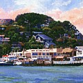 Tiburon California Waterfront by Frank Wilson