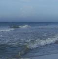 Tide Rolling In Ocean Isle Beach North Carolina by Teresa Mucha