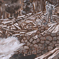 Tie Hack Historical Vignette From River Mural by Dawn Senior-Trask