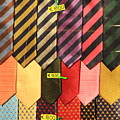 Ties In Shop Window In Venice by Michael Henderson