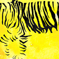 Tiger Animal Decorative Black And Yellow Poster 2 - By Diana Van by Diana Van