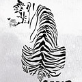 Tiger Animal Decorative Black And White Poster 4 - By  Diana Van by Diana Van