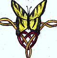 Tiger-butterfly Celtic Double Knot by April Patterson