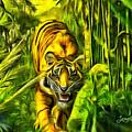 Tiger In The Forest by Leonardo Digenio