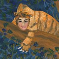 Tiger Sphinx by Sushila Burgess