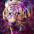 Tiger Surreal Painting Predator  by PixBreak Art
