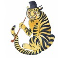 Tiger With Pipe by Rag Aragno