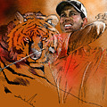 Tiger Woods Or Earn Your Stripes by Miki De Goodaboom