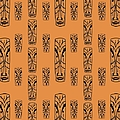 Tikis In Orange by Donna Mibus