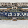 Tile Mosaic Sign, Times Square Subway New York, Handmade Sketch by Drawspots Illustrations