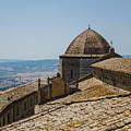 Tile Roof Tops Of Volterra Italy by Edward Fielding