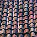Tiled Roof In Girona Spain by Yulia Kazansky