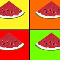 Tiled Watermelon by Kathleen Sartoris