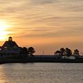 Tilghman Island Marina At Sunrise by Bill Cannon