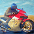 Time And Space Equation - Triumph 600tt by Brian  Commerford