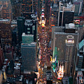 Times Square At Night by John Majoris