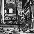 Times Square Black And White by Mary Pille
