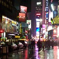 Times Square In The Rain 1 by Anita Burgermeister