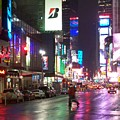 Times Square In The Rain 2 by Anita Burgermeister
