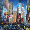 Times Square New York City by Hall Groat Sr