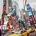 Times Square Pop Art by Delphimages Photo Creations