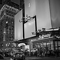 Times Square Subway Stop At Night New York Ny Black And White by Toby McGuire