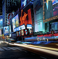 Times Square With Light Trail by Ger Determan