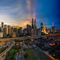 Timeslice Of Day To Night Of Kuala Lumpur City by Ahmad Hafidz Abdul Kadir