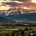 Timpanogos With Sunset Clouds by TL Mair