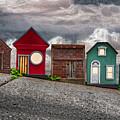 Tiny Houses On Walnut Street by John Haldane