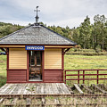 Tiny Train Station Barnet Vermont by Edward Fielding