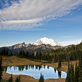 Tipsoo Lake And Mt. Rainier by Michael Russell
