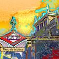 Tirso De Molina Metro Entrance Madrid by Alan Armstrong
