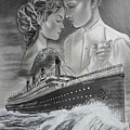Titanic Drawing With Kate And Leonardo by Vimal Chand