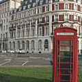Titanic Hotel And Red Phone Box by Terri Waters